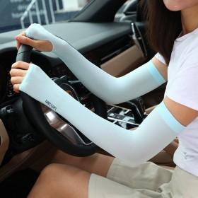 防晒手套女防紫外线薄加长款夏季冰丝男士护手臂袖子冰