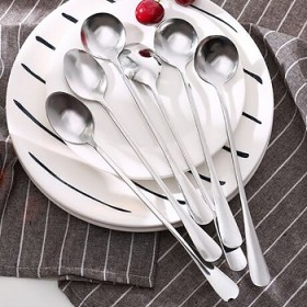不锈钢勺子咖啡搅拌韩式家用餐具长调羹