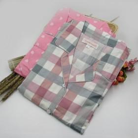 【全棉棉布】斜纹布梭织布纯棉睡衣翻领女