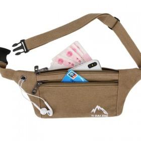 动帆布男女跑步手机包包多功能防水迷你时尚健身小腰包