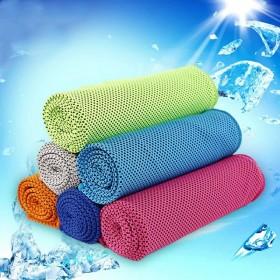 冷感运动毛巾速干降温冰巾魔幻冰凉巾超细纤维冰毛巾擦