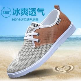夏季透气男鞋休闲鞋子网鞋网面鞋