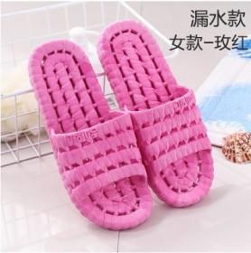 拖鞋夏天女士室内居家洗浴男夏软底漏水拖鞋四季款
