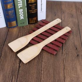 厨房用品锅铲 30cm不粘锅专用竹木铲子 不伤锅方