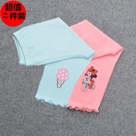 【两件装】2019夏季薄款女童打底裤春秋超薄裤子