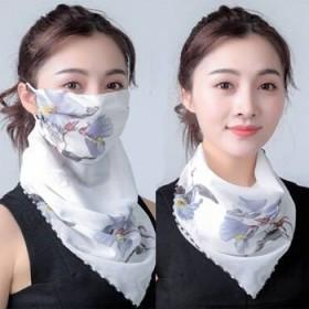 防晒口罩 面纱面罩 秒变小丝巾 护脸护颈