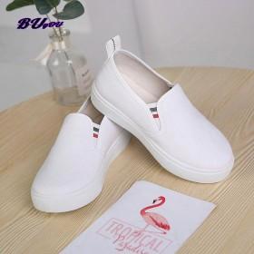 步游一脚蹬帆布鞋韩版儿童休闲单鞋男女纯色学生运动鞋