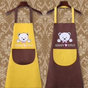 防水防油围裙女韩版时尚可爱厨房情侣成人男女罩衣