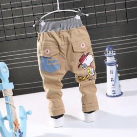 春秋季新款童装童裤 新款儿童休闲长裤 中小童单裤