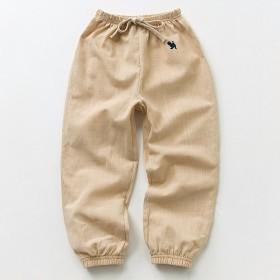 男女童防蚊裤男宝女宝棉麻薄款宽松灯笼裤