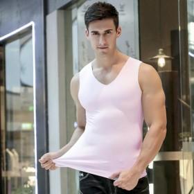 2019夏季无痕莫代尔背心男士一片式紧身的运动冰丝