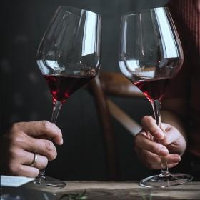 2个家用红酒杯子创意葡萄酒杯水晶杯高脚杯红酒玻璃杯