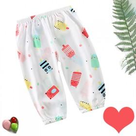 儿童防蚊裤宝宝宽松束腿灯笼裤空调裤爱心夏季薄款