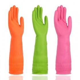 三双装乳胶耐用洗碗洗衣服家务手套