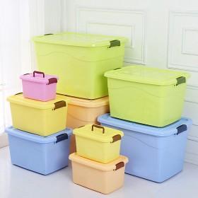 收纳箱塑料小号储物箱衣服被子玩具收纳盒车载家用
