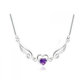 天使之翼银项链锁骨链
