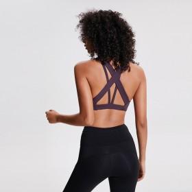 专业运动内衣女防震跑步交叉美背健身文胸瑜伽训练背心