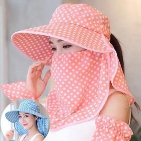 帽子女遮阳帽子可折叠户外防晒遮脸大檐采茶帽