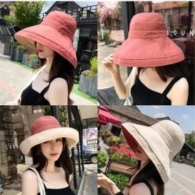 好品质百搭出游遮阳帽防晒紫外线大沿遮脸日系渔夫帽女