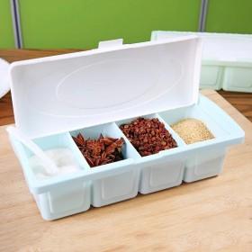 调味盒厨房用品多格翻盖收纳盒佐料盒调料罐调料盒
