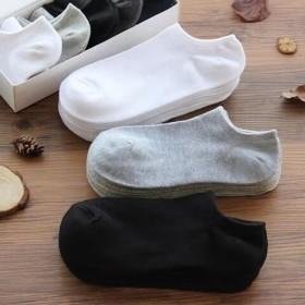 【10双装】船袜纯棉透气夏季薄款男袜短袜隐形袜