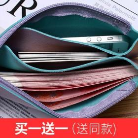买一送一零钱包长款韩版ulzzang手包简约手机包