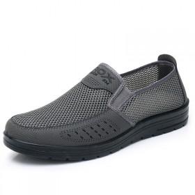 夏季透气老北京布鞋中老年男休闲鞋网面鞋