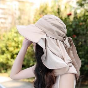 2019大檐遮阳帽子夏韩版英伦防紫外线沙滩太阳帽遮