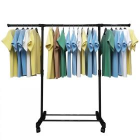 阳台卧室不锈折叠晾衣架新品落地室内外单双晒衣