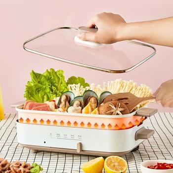 (领券)美的多功能料理锅电烧烤炉家用无烟烤肉火锅锅