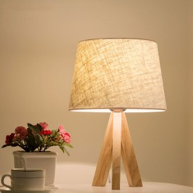 北欧实木卧室台灯床头灯