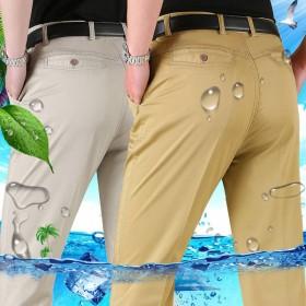 2件装夏季男裤男士商务休闲裤直筒宽松裤子西裤