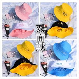 女渔夫帽男夏遮阳帽日系软妹女韩版学生韩国男刺绣青年