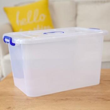 收纳箱塑料小号大号特大号加厚储物箱透明储物盒食品玩