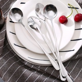韩式家用餐具长调羹汤匙长柄勺小汤勺