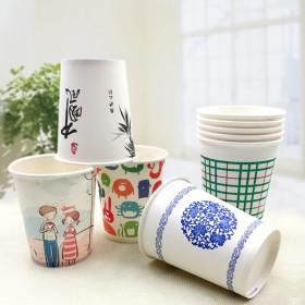 【100只】环保纸杯加厚一次性纸杯一次性水杯