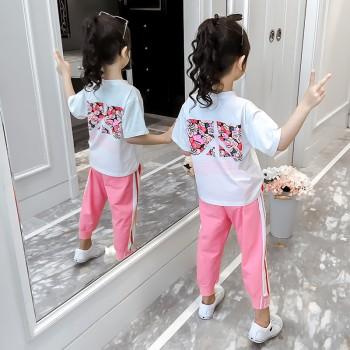 【筠依衣】童装女童套装夏季新款网红洋气短袖两件套