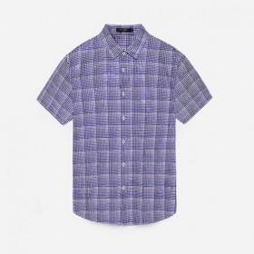 品牌剪标2019新款休闲男士衬衫印花短袖衬衫