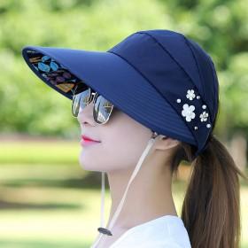 太阳帽遮阳帽子女士可折叠防晒大檐凉帽骑车空顶百搭春