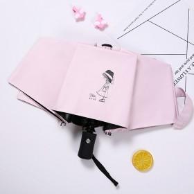 全自動少女心雨傘女晴雨兩用太陽傘防曬防紫外線遮陽傘