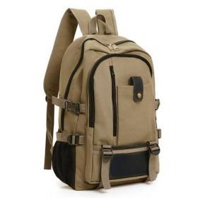 耐磨帆布大容量双肩包旅行背包时尚潮男女中大学生书包