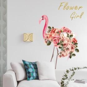 出租房改造网红少女心房间装饰ins火烈鸟墙贴纸贴画