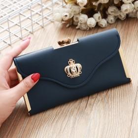 时尚范女士钱包长款时尚手拿包镶钻搭扣卡包晚宴包