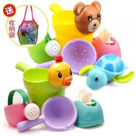 儿童洗澡玩具沙滩玩具软胶4件套
