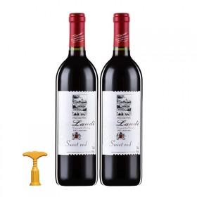 【2瓶装】法国原酒甜红酒红送开瓶器
