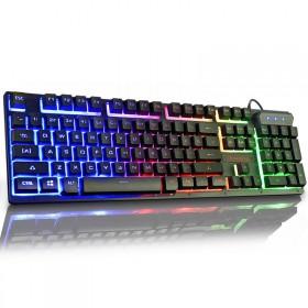 电脑台式键盘游戏机械手感笔记本外接USB有线键盘