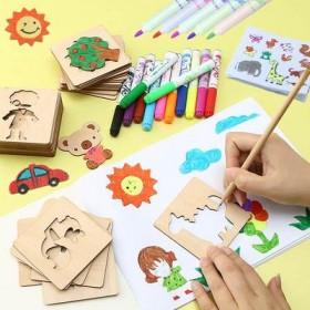 木质拼图玩具小猪佩奇幼儿童早教2一7岁男女孩56套