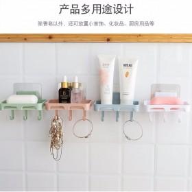 3个装免打孔沥水香皂盒吸盘式肥皂盒托皂架壁挂式沥水
