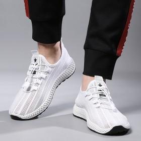 飞织网鞋时尚休闲跑步白搭透气一脚蹬懒人潮鞋