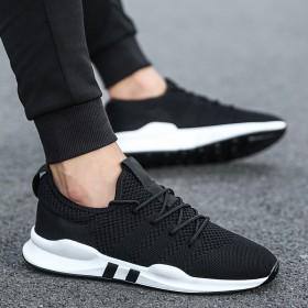 男士运动休闲跑步潮鞋韩版潮流百搭透气飞织网鞋